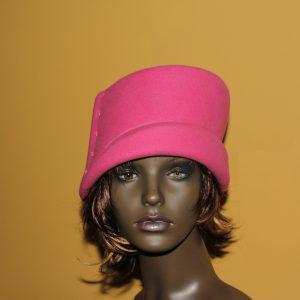 Pink peach bloom hat
